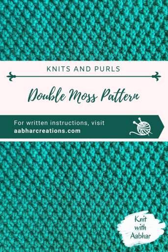 Double Moss Stitch Pattern Pin