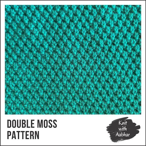 Double Moss Knit Stitch Pattern