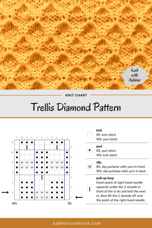 Trellis Diamond Stitch Chart