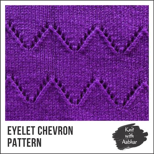 Eyelet Chevron Stitch Pattern