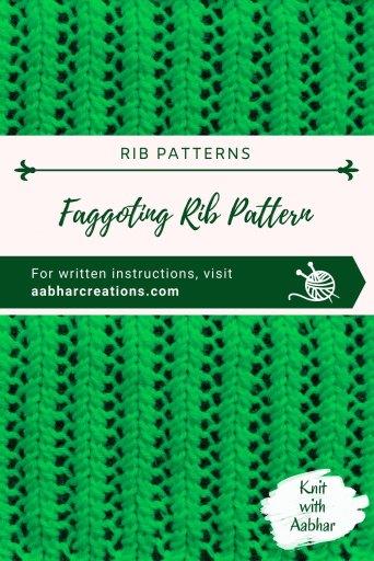 Faggoting Rib Stitch Pin