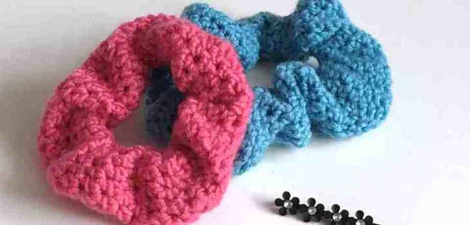 crochet scrunchies crochet last-minute gift