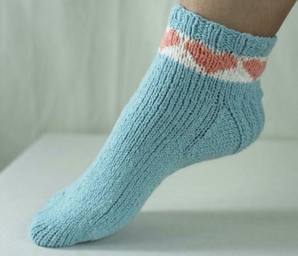 I Heart Fixation Socks free knitting pattern