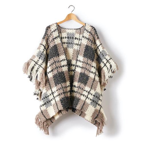 Patons-Plaid-Blanket-Crochet-Poncho