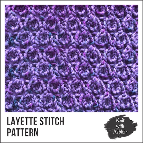 Layette Stitch Pattern aabharcreations