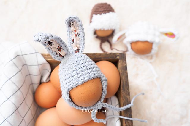 #10 Easter Egg Mini Bunny Hat Free Crochet Pattern