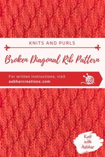 Broken Diagonal Rib Stitch Pin aabharcreations