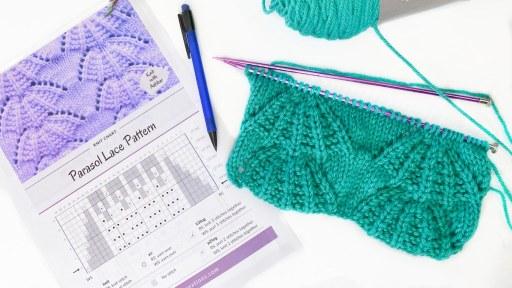 reading knitting stitch chart