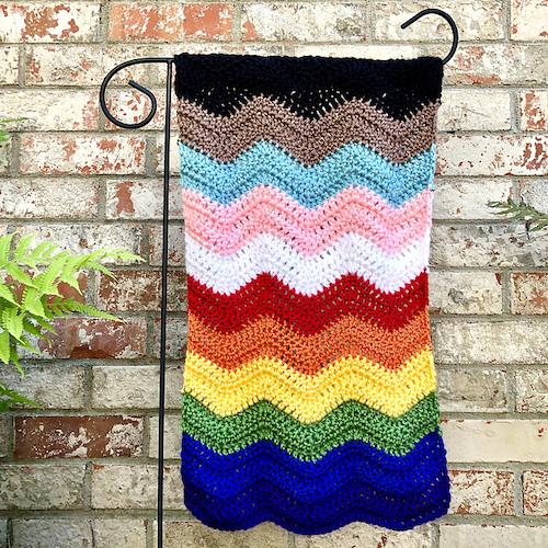 All Inclusive LGBTQ Flag - Free Crochet Pattern