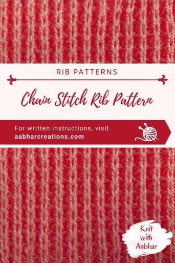 Chain Stitch Rib Pin Image aabharcreations