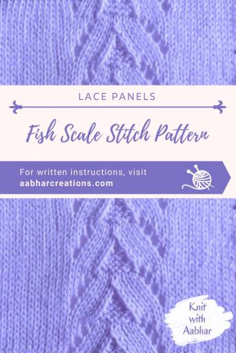 Fish Scale Stitch Pattern pin aabharcreations