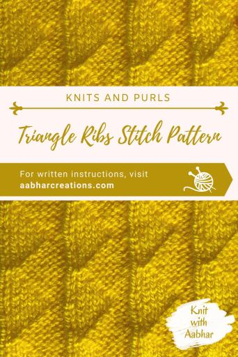 Triangle Ribs Stitch Pattern Pin Image aabharcreations