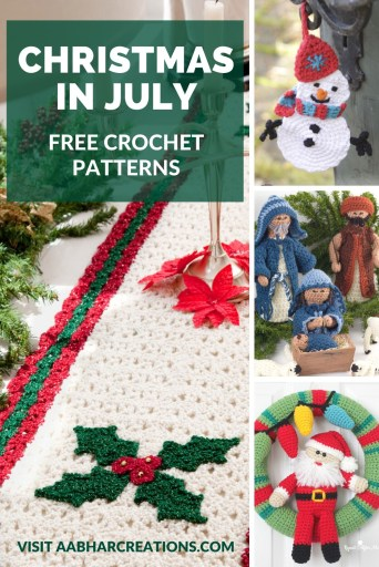 Christmas in July aabharcreations free crochet patterns
