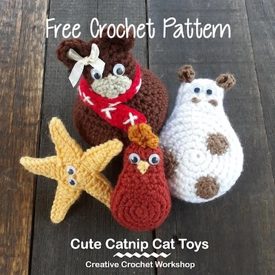 Pattern: Cute Catnip Cat Toys from CreativeCrochetWorkshop