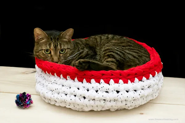 Super Bulky Crocheted Cat Bed