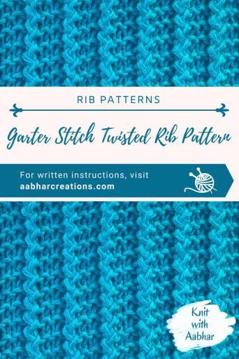 Garter Stitch Twisted Rib Pin Image aabharcreations