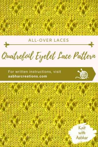Quatrefoil Eyelet Lace stitch aabharcreations