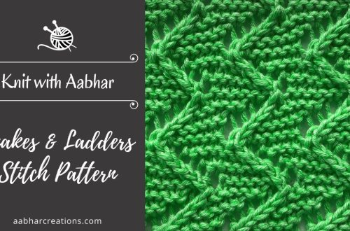 Snakes and Ladder Stitch Featured aabharcreations