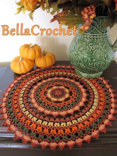 Pattern: Autumn Spice Mandala Doily from Bella Crochet