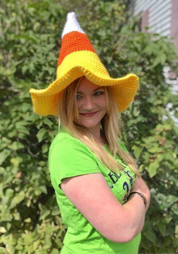 Pattern: Candy Corn Witch Hat Crochet Pattern from Crafty Kitty Crochet