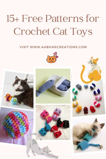 Crochet Cat Toys pattern roundup aabharcreations