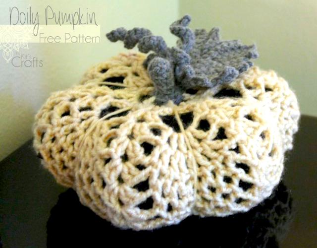 Pattern: Doily Pumpkin from Kits-Crafts