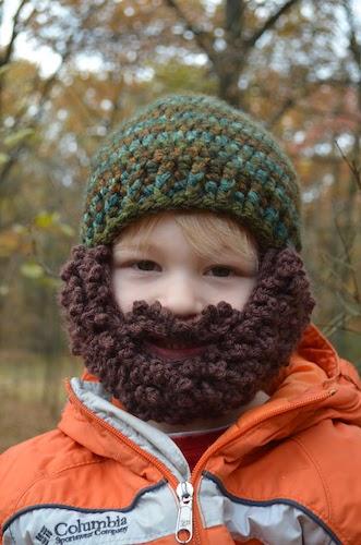 Pattern: Mountain Man Beard Hat from Hand Me Down Hobby fall crochet patterns