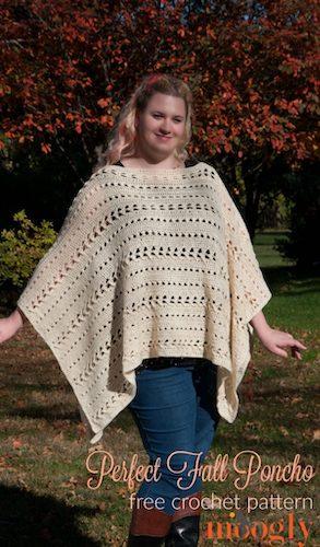 Pattern: Perfect Fall Poncho from Moogly Blog fall crochet patterns