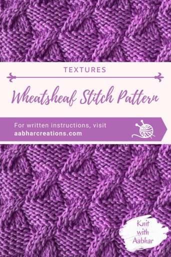 Wheatsheaf Stitch Pattern Pin Image aabharcreations