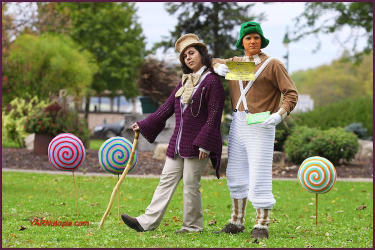 Pattern: Willy Wonka and Oompa Loompa from Yarnutopia crochet halloween costumes