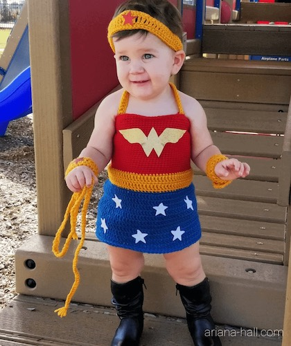 Pattern: Wonder Woman Crochet Outfit from Ariana Hall