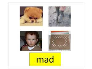 Sample AAC display for the word mad