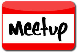 """Name tag with the words """"meet up"""" on it"""