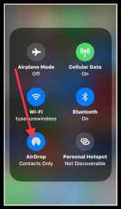 Image of wireless control panel on iPhone running iOS 11