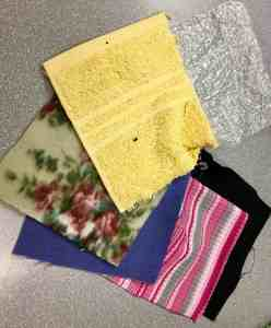 Image of fabrics of different textures.