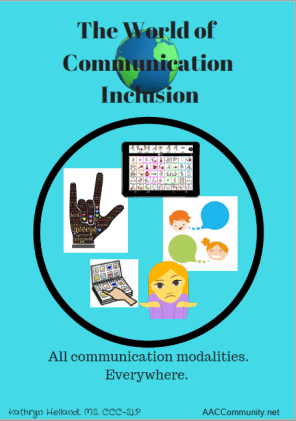 Image of a poster advocating for all communication modalities