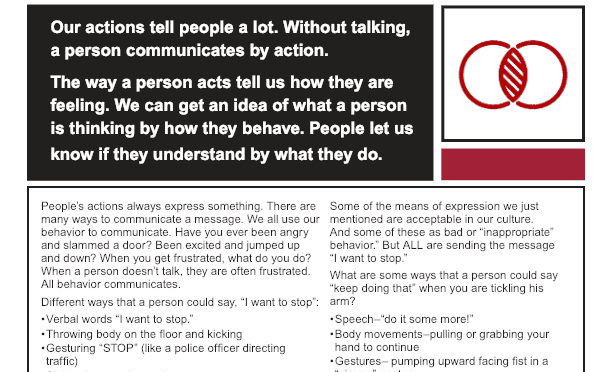 Handout for Behavior Communicates