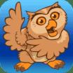 Proloquo2Go icon owl on blue