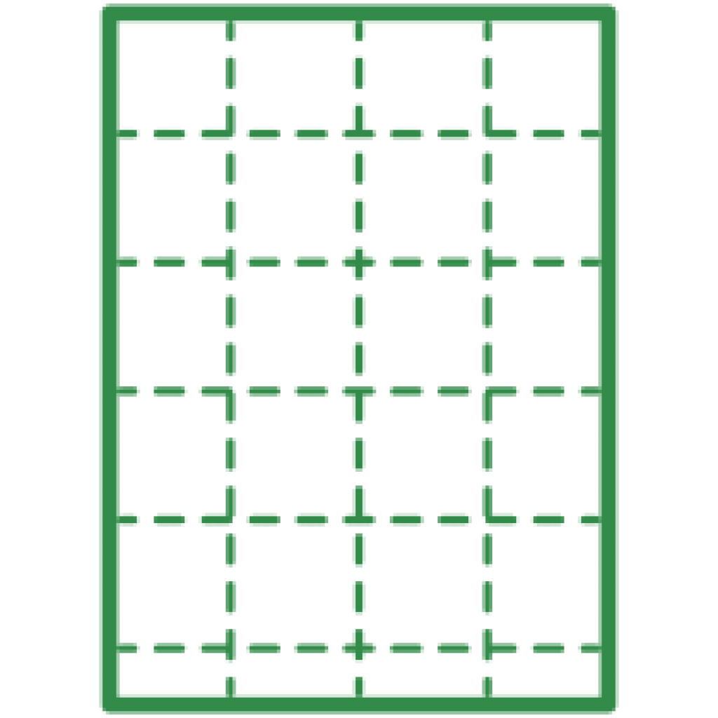Grid on paper.