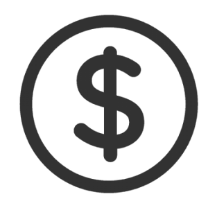 A dollar sign in a circle