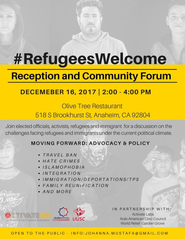 Refugees Welcome Town Hall 1-2