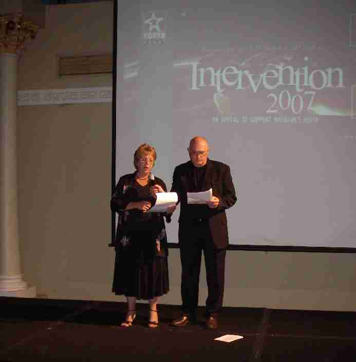 Christine and Lee Rush addressing the Youth Excel dinner