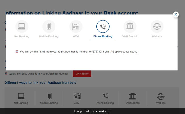 Guide To Link SBI, HDFC Bank, ICICI Bank, Axis Bank Accounts With Aadhaar Card