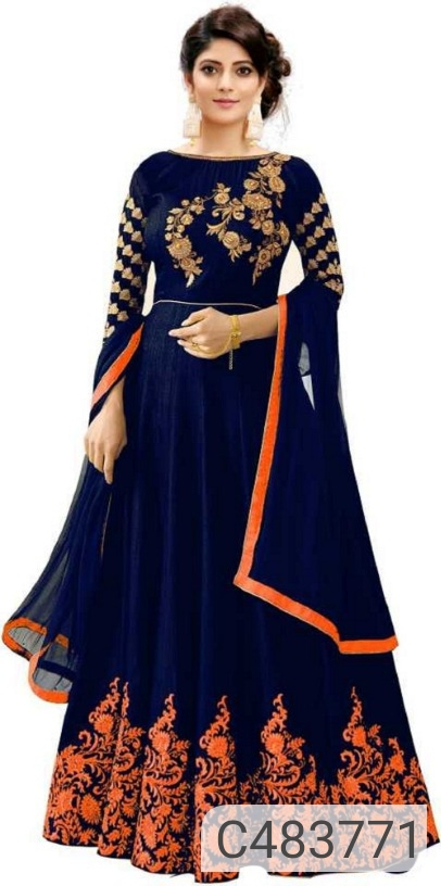 Designer Silk Anarkali Suits