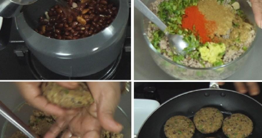 राजमा के कबाब – कटलेट्स