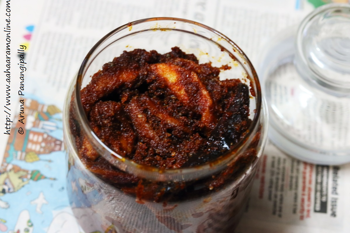 Maagai | Magai | Magaya:  Andhra Dried Mango Pickle