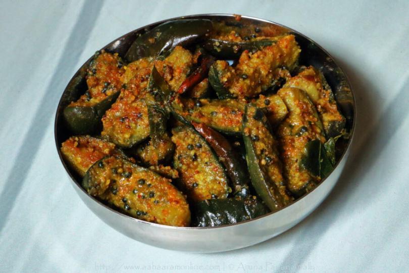 Menthi Podi Veysina Vankaya Kura | Andhra Brinjal Fry with Fenugreek Flavour