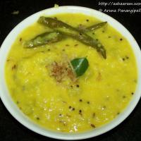 Anapakaya  Pesarpappu Koora (Lauki aur Moong Dal ki Bhaji, Bottle Gourd and Green Gram Curry)