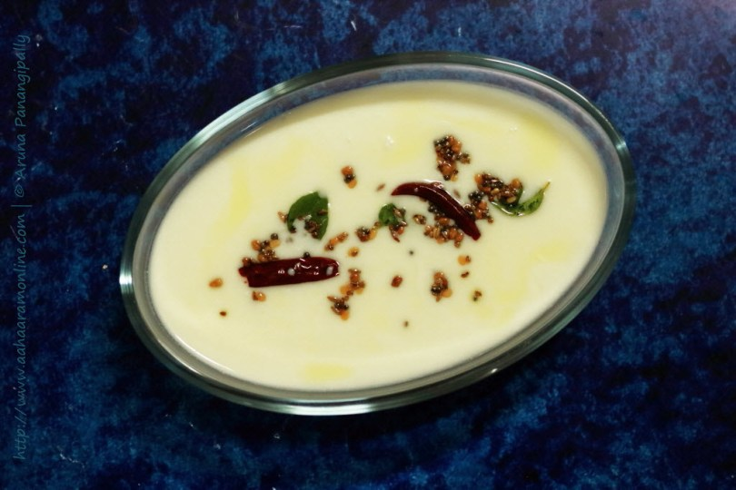 Andhra Menthi Majjiga (Buttermilk Tempered with Fenugreek Seeds)