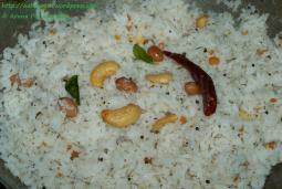 Kobbari Annam or Coconut Rice or Thengai Sadam